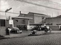 Garagem da Viação Cometa, anos 60, Rua Padre Adelino, no Belenzinho