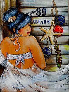 Risultati immagini per isabelle desrochers peinture Plus Size Art, Fat Art, Diamond Art, 5d Diamond Painting, Fat Women, Renoir, Beach Babe, Big And Beautiful, Isabelle