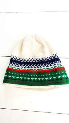 Vintage G.H. Ski Products Beanie Hat Wool Snow Colorado Mens Womens  #GHSkiProducts #Beanie