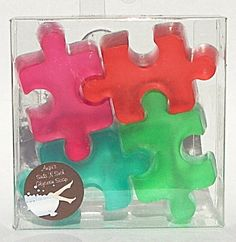 Support Autism Awareness Puzzle Soaps Fruit Scented by SudsNSuch. $5.00 USD, via Etsy.