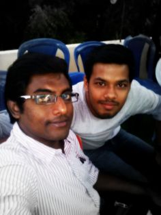 Me and my friend syam. A day in Kadapa. 15/11/2012
