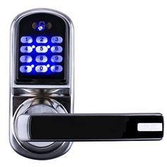 awesome Ardwolf CJ8015 Electronic Keyless Keypad Door Lock, Code + Mifare Card + Mechanical Key, + Multi Functions