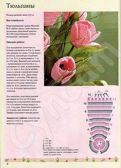 Szydełkowy tulipan