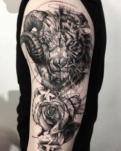 Leo Tattoos, Baby Tattoos, Badass Tattoos, Couple Tattoos, Animal Tattoos, Forearm Tattoos, Body Art Tattoos, Tattos, Half Sleeve Tattoos For Guys