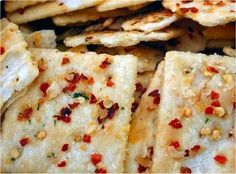 Good. SPICY! Made ours with whole wheat round crackers.    Alabama Firecrackers - Easy breezy appetizer/snack #recipe! Must let sit overnight though.