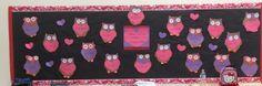 Who-ooo-ooo loves kindergarten owl valentines day bulletin board idea Teaching Kindergarten, Preschool Classroom, Teaching Ideas, Classroom Ideas, Valentines Day Bulletin Board, School Decorations, Classroom Displays, Board Ideas, Bulletin Boards