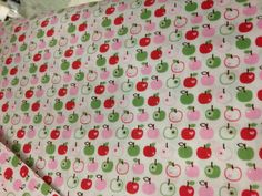 Pink, Green and Red Apples, Fabric