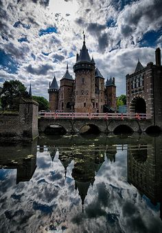 Reflections of Castle De Haar, near Haarzuilens ~ Utrecht, Netherlands