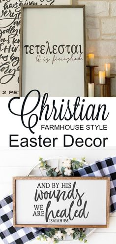 Easter Decorations 69524387986866056 - Christian Farmhouse Style Easter Decor – Add some faith-based decor to your Easter trimmings! Signs, pillow covers, eggs, and more. Source by brandiraae Diy Easter Decorations, Decoration Table, Altar Decorations, Easter Burlap Banner, Diy Osterschmuck, Christian Decor, Christian Easter, Christian Christian, Easter Religious