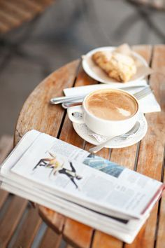 breakfast with something to read