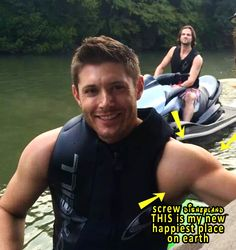 Jensen and Jared and really buff arms.