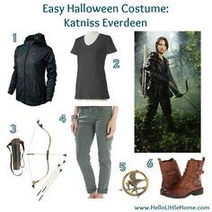 Easy Halloween Costume: Katniss Everdeen #TheHungerGames #Katniss