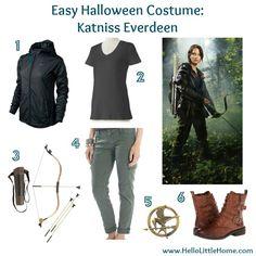 Easy Halloween Costume: Katniss Everdeen #TheHungerGames #Katniss