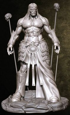 BadassConan He Man Figures, 3d Figures, 3d Fantasy, Fantasy Warrior, Fantasy Model, Statues, Conan Der Barbar, Conan The Destroyer, Conan Comics