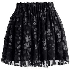 Chicwish Falling Petal Mini Skirt in Black