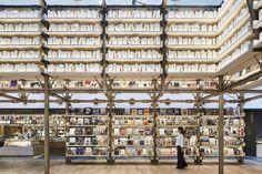 Tonerico-Inc - Ginza Tsutaya Books Library Architecture, Muji, Shelving, Bamboo, Photo Wall, Frame, Modern, Bookstores, Libraries