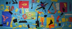 Matisse-inspired painting with scissors mural