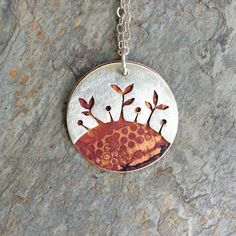 Sterling Silver Necklace with Copper. Pierced by coldfeetjewelry...pinned by ♥ wootandhammy.com, thoughtful jewelry.