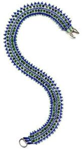 Beaded Serpentine Necklace Pattern and Kit. Also available in 3 other color choices. (Click on picture to take you to this item on our website). $17.95