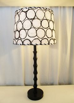 modern drum lamp shade black and white circles lampshade washer top shade mulberry