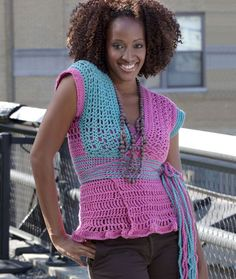 Wrap-And-Go Sweater By Double Stitch Twins - Free Crochet Pattern - (redheart)
