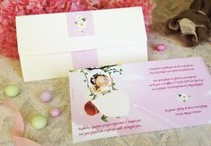 Girl Christening, Place Cards, Place Card Holders