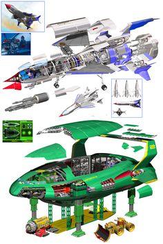 Thunderbird 1 and 2 from Movie.jpg (787×1181)