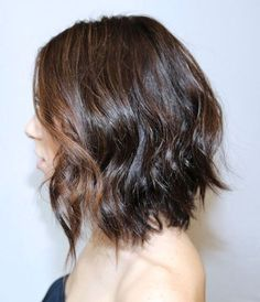 Loose+Messy+Waves+In+A-line+Bob