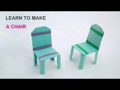 how to make a paper chair easy steps This is a paper art. Its invented by me, learn this and make yourself for only personal use not for your internet earnin. Origami Furniture, Steps Youtube, Paper Art, Paper Crafts, Origami Stars, Doll Stuff, Inventions, Baskets, Crafts For Kids