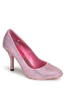 Baby Pink Rhinestone High Heel Pump - 7