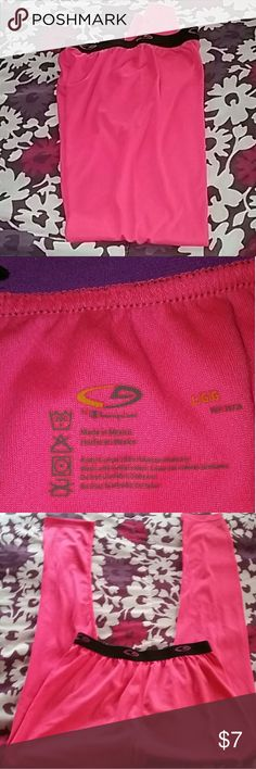 Pink Sports Pants Baseball, Softball etc... These pants can be used under your Sports uniform. Thin. Used but in decent Condition. Champion brand. Large size. Black trim on waste line. Some purple lettering on waste line. Comfy fit. Champion Pants Track Pants & Joggers