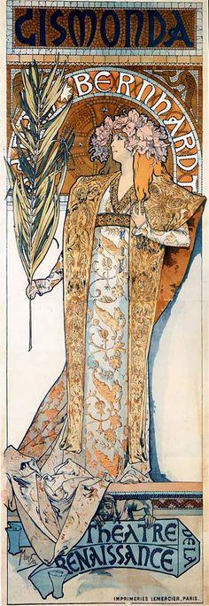 Alphonse Mucha. Gismonda, Tarih: 1894. Bu tablonun canvas baskısını edinmek ve ayrıntılı bilgi için resme tıklayınız. #canvastar #canvas #tablo #tablolar #baskı #resim #ressamlar #dekorasyon #tuval
