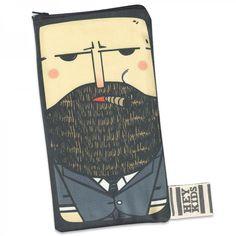 illustrated pencil caseMobile phone by HeyKidsDesignGroup on Etsy