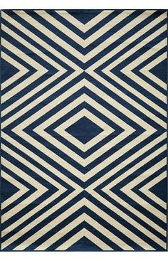 Designer rugs at 60% off! Momeni Baja BAJ8 Navy Rug | Contemporary Rugs