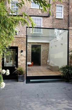 Listed buildings with Structurally Glazed Extensions House Extension Design, Extension Designs, Glass Extension, Extension Ideas, Metal Building Kits, Building A House, Building Homes, Exterior Design, Interior And Exterior