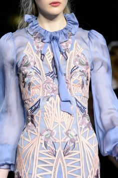 Details at Temperley London Fall-Winter 2017.18 RTW.