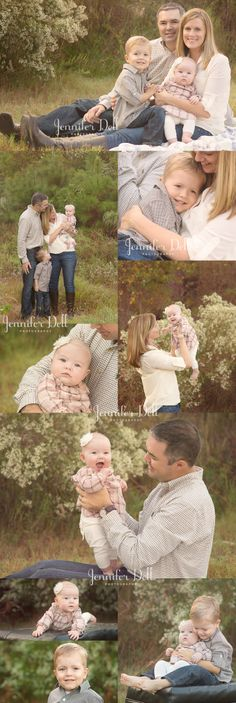 Picture perfect family with a little boy and baby girl. © Jennifer Dell Photography - Houston photographer. #familyportraits #familyphotos