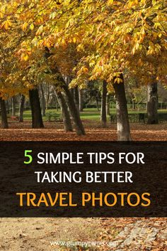 Check out these photography tips for taking better travel photos: http://www.grumpycamel.com/travel-photos