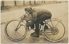 Proper Old skool motorbike – 1910's Pope motorcycle