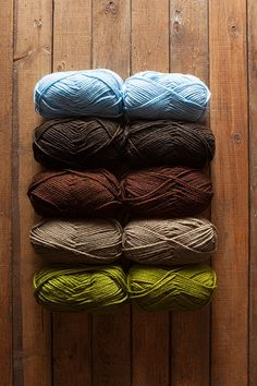 Scottish Isle Brava Bulky Sampler - includes10 balls of yarn, 2 per color.