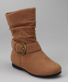 Take a look at this PINKY FOOTWEAR Camel Zip-Up Thalia Boot on zulily today!