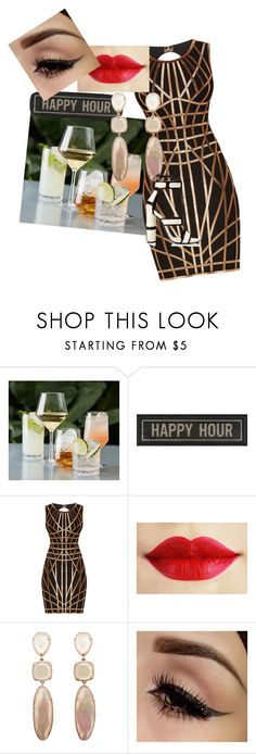 """""""happy hour"""" by m-paulinestyles ❤ liked on Polyvore featuring Pottery Barn, The Artwork Factory, Hervé Léger and Tom Ford"""