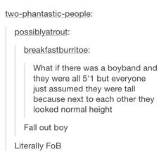 """Literally FOB Except FOB isn't like a """"boy band"""" One Direction is a boy band, FOB wants to save rock n roll"""