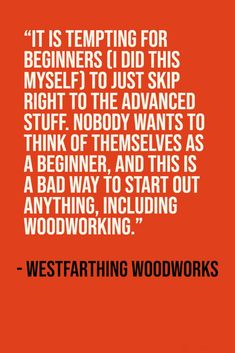 Don't be afraid to be a beginner. Woodworking Beginner, Woodworking Books, Violin Makers, Wood Working For Beginners, Pick One, Fun Projects, Cool Things To Make, How To Plan, Learning