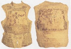 Brigandine, 15th century, Museum of Milan. This armor appears to be a cross between a brigandine and a goblose / corrazina  (cloth covered multi plate cuirass).