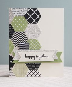 Stampin' Up! Artisan Design Team - July - Modern Medley, Six-sided Sampler & Hexagon punch - Amy Bollman