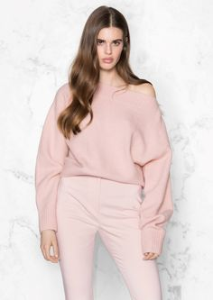& Other Stories image 2 of Bishop Sleeve Sweater in Pink