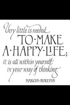 Positive thinking = positive life!