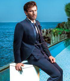 BA 50049-17 #sposo #groom #suit #abito #wedding #matrimonio #nozze #blu #blue