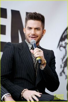 Adam Lambert at Madison Square Garden for Queen Press Conference